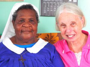 Sister Kathy with Sister Maria Goretti
